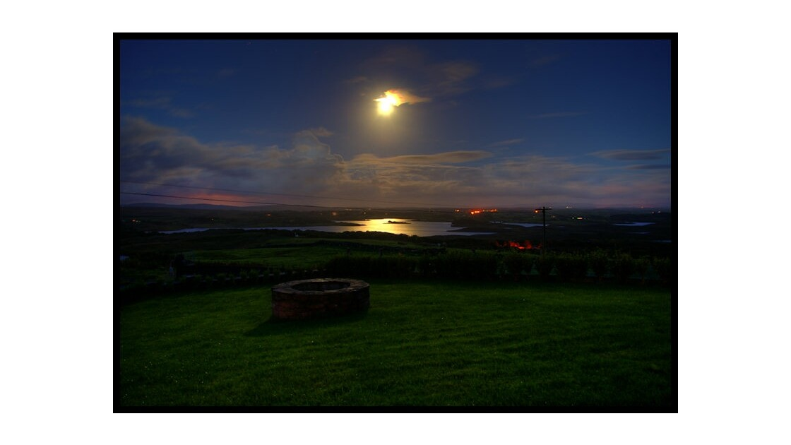 Pleine lune, Furnace, Co. Mayo, Irlande