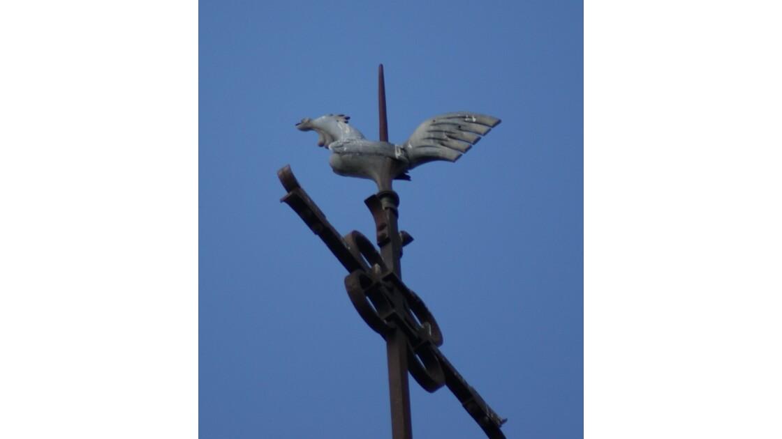 sur le clocher de Sceaux d'Anjou (49)
