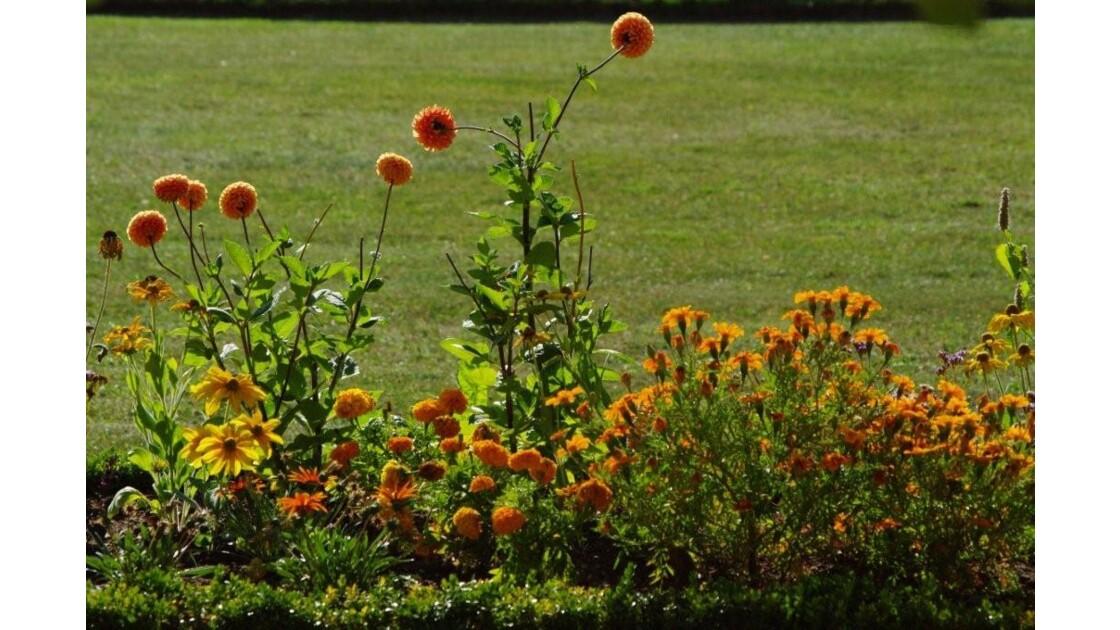 bordure de fleurs.