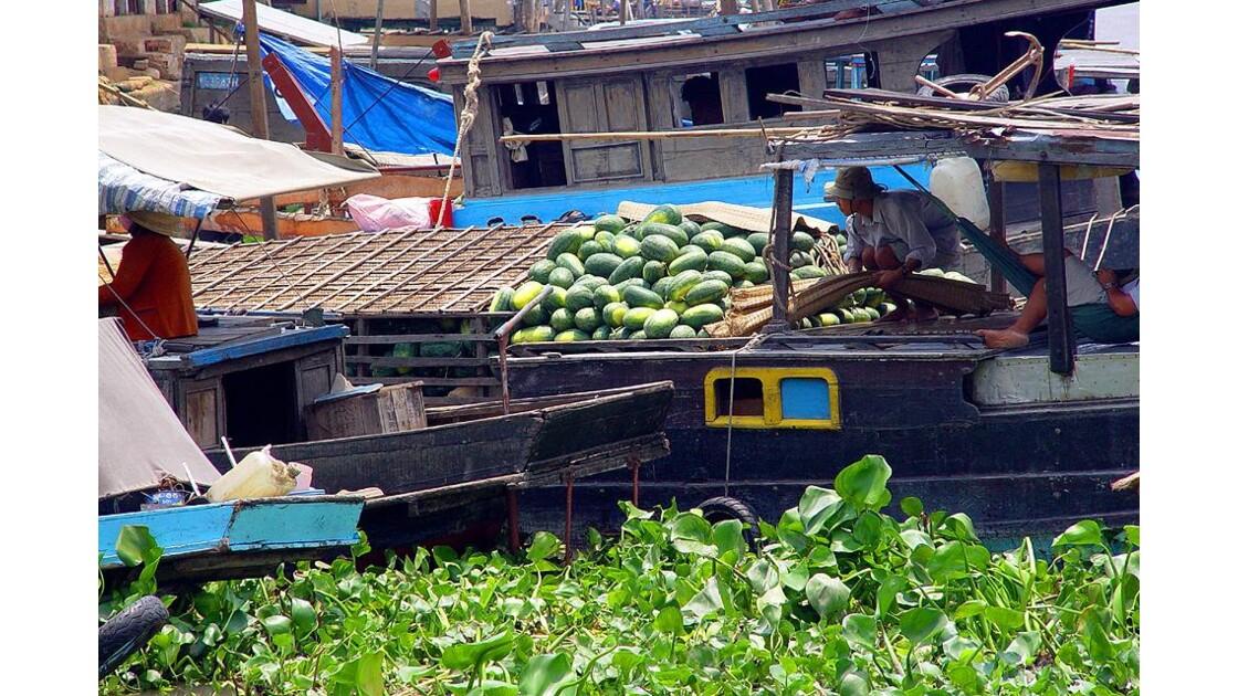 Vers le marché flottant du Mékong