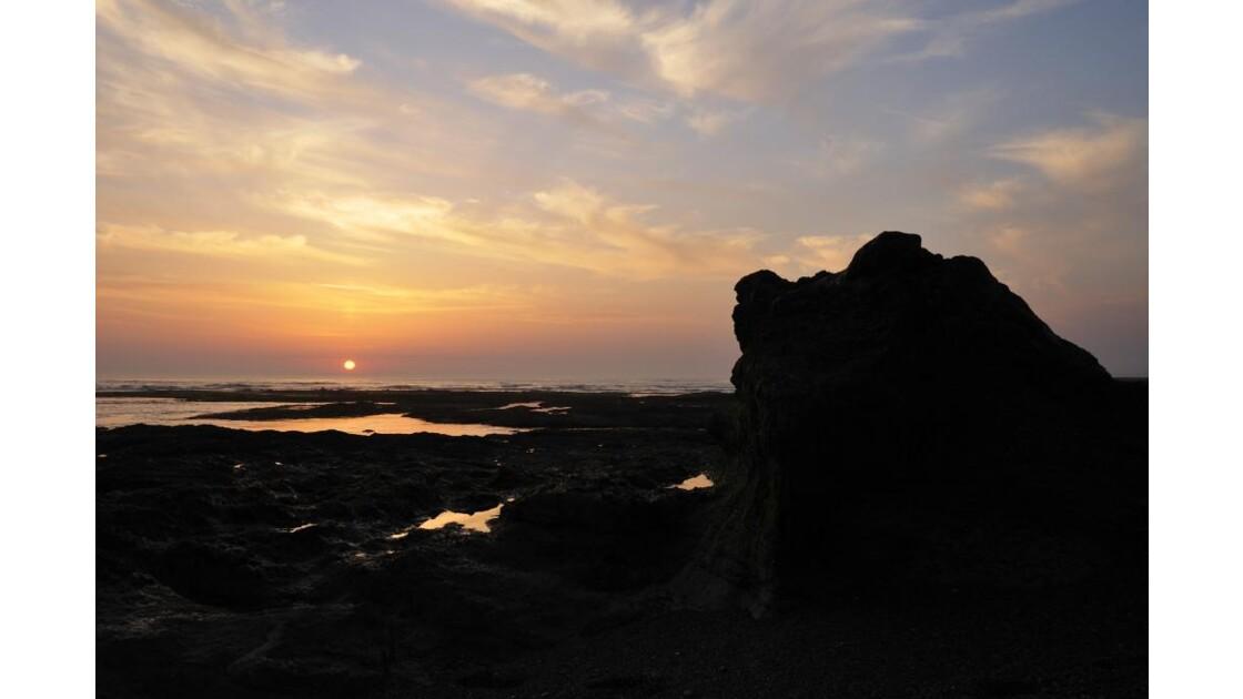 Soleil couchant sur la côte Vendéenne