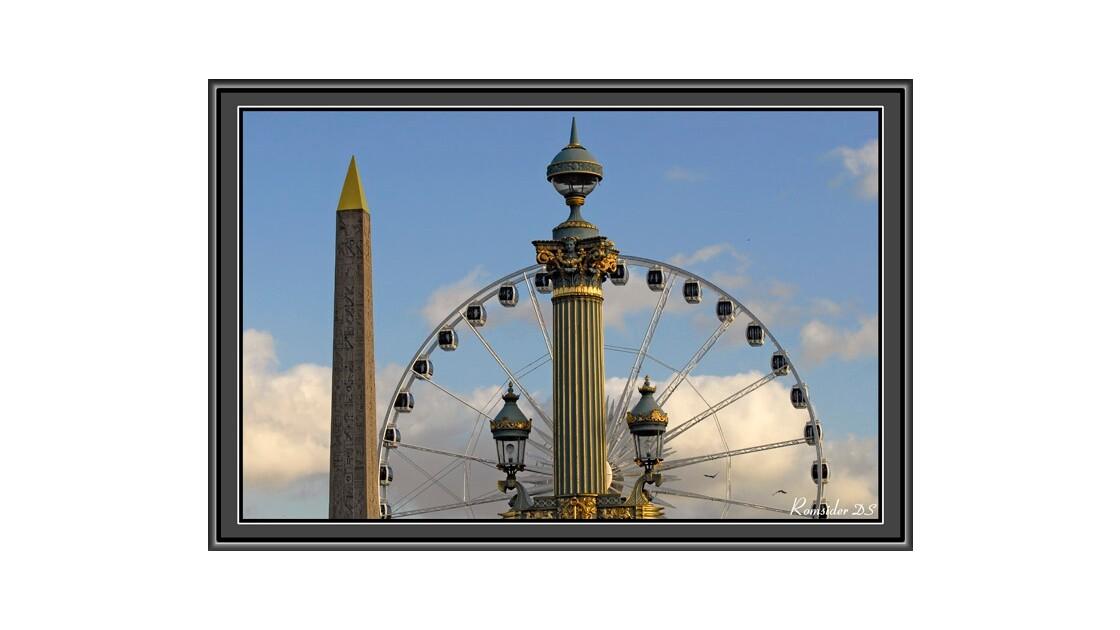 Obélisque à la roue (Paris la Concorde)