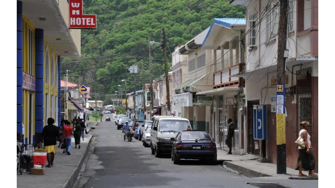 Sainte-Lucie, rue à Soufrière