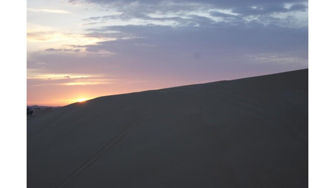 coucher de soleil à dubai