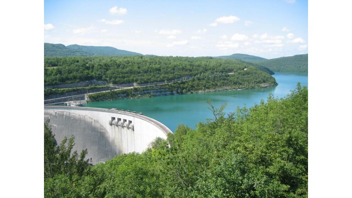 La rivière d'Ain le barrage de Vouglans