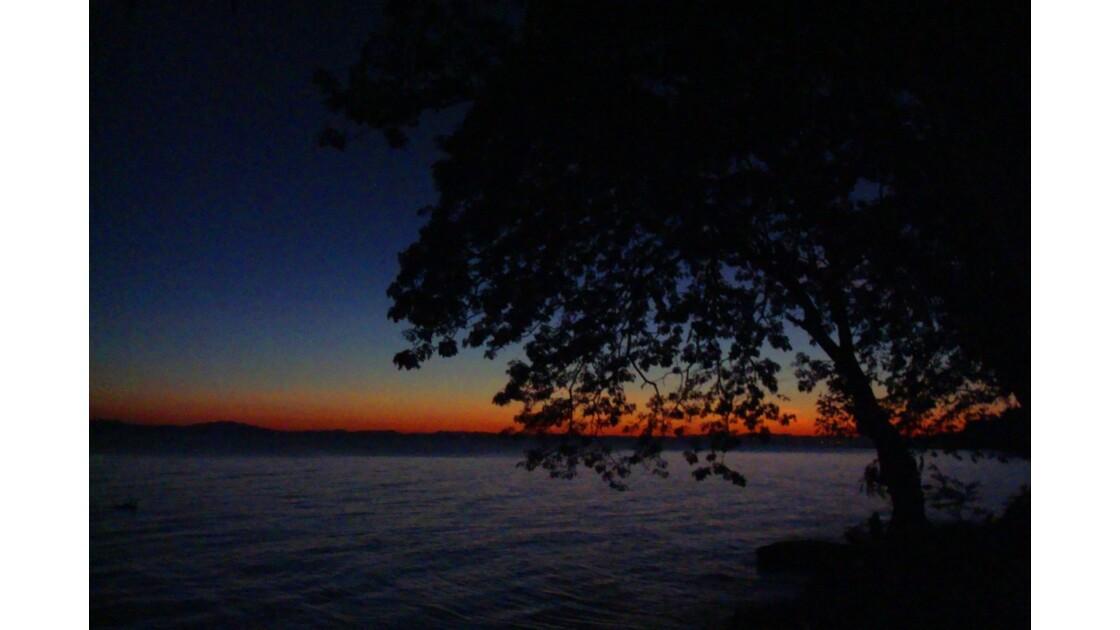 Coucher de soleil sur le lac Nicaragua