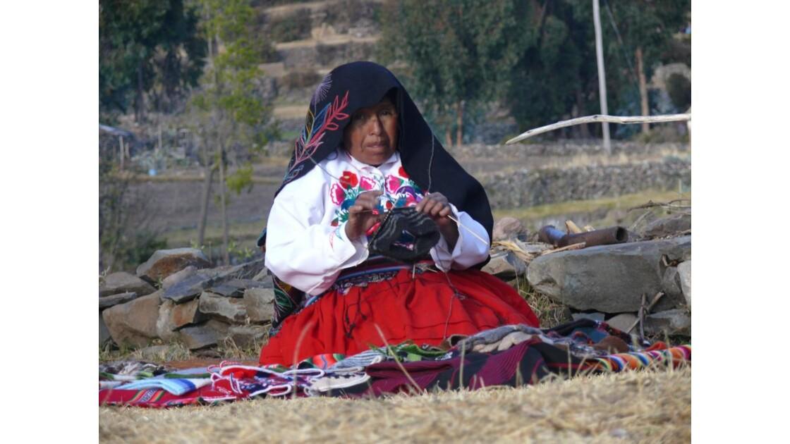 tricoteuse du Titicaca