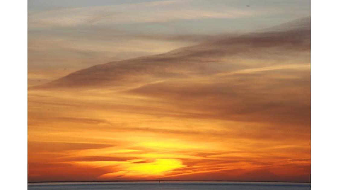 coucher de soleil a pyla plage