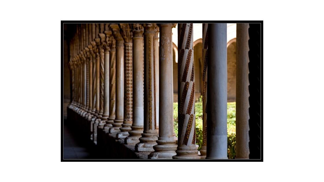 Les colonnettes du cloître de Monreale