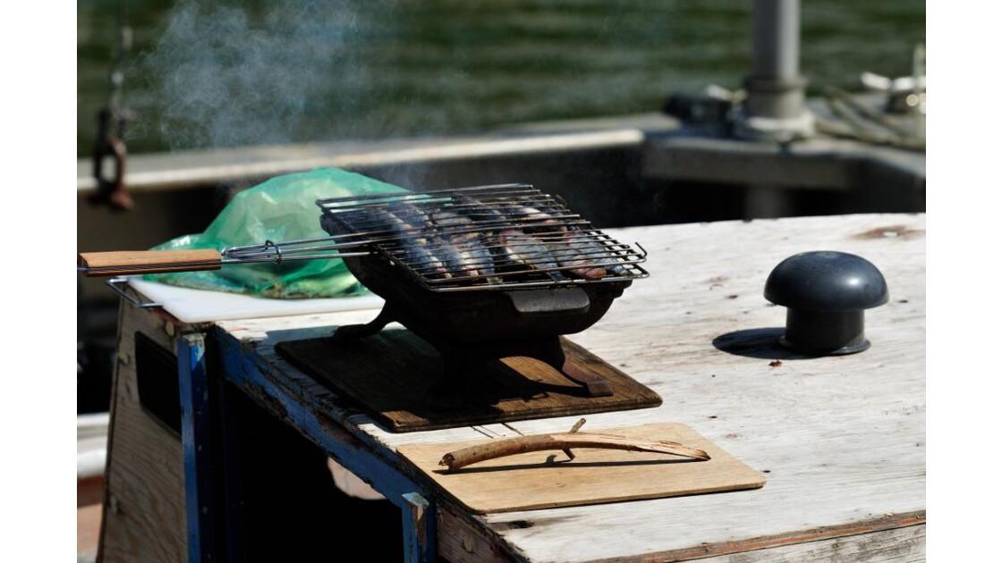 Sardines sur le barbecue