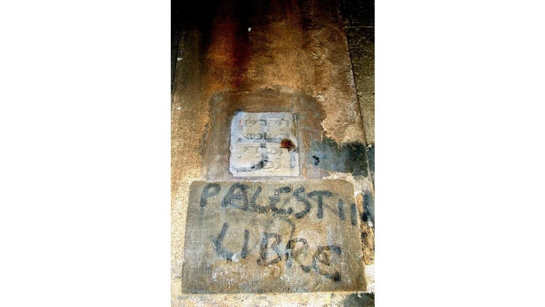 Palestine : graff à Barcelone ...