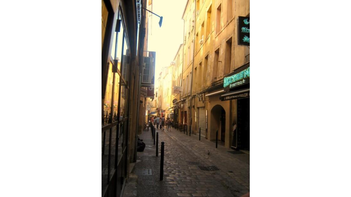 Rue de la Verrerie à Aix en Provence