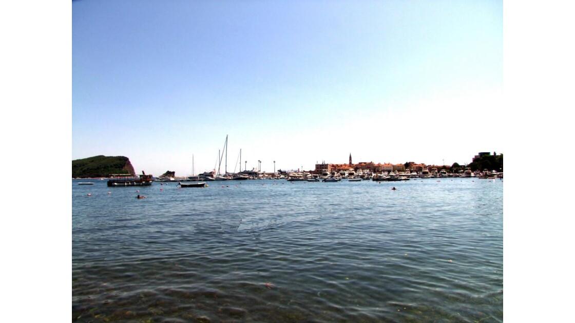 Montenegro Budva port vers Stari Grad