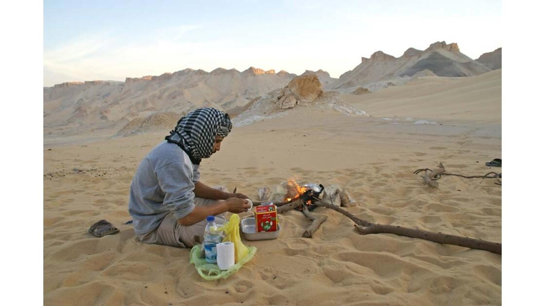 Thé dans les dunes