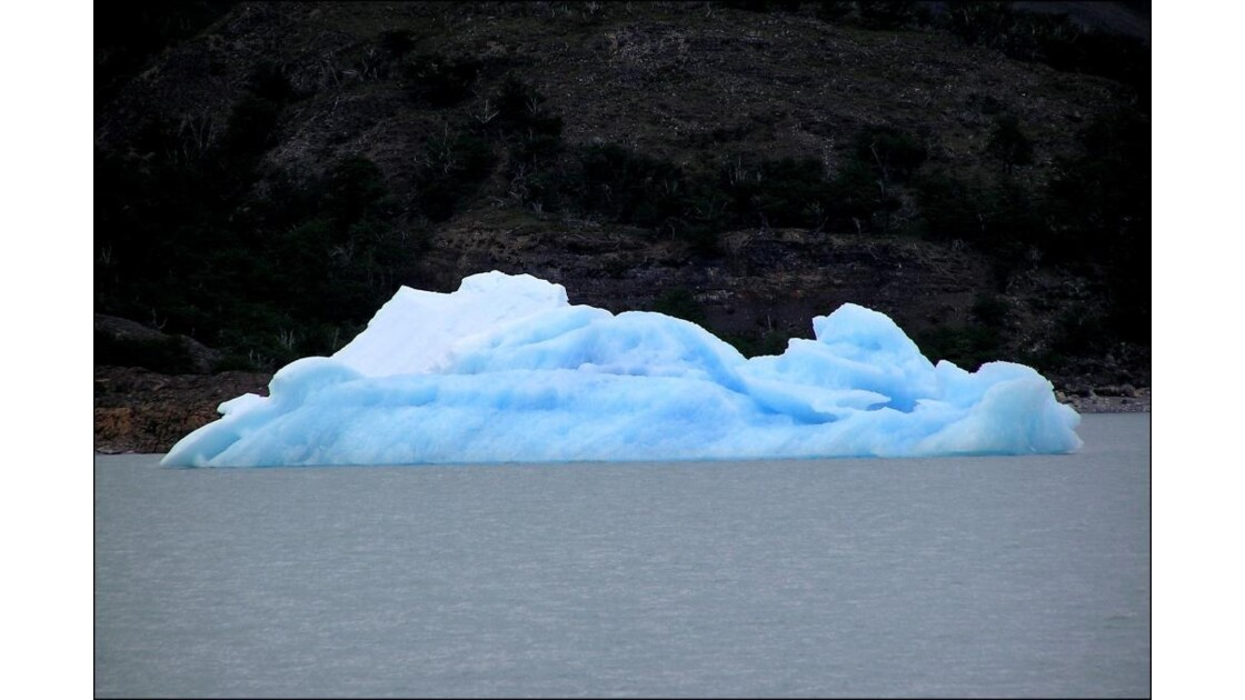 iceberg à la dérive.