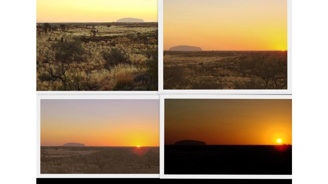 Australie Ayers rock -lever de soleil