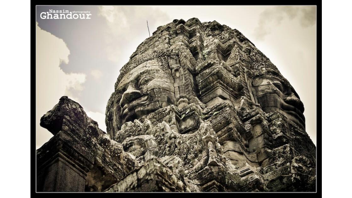 Stone Buddha at Angkor Wat
