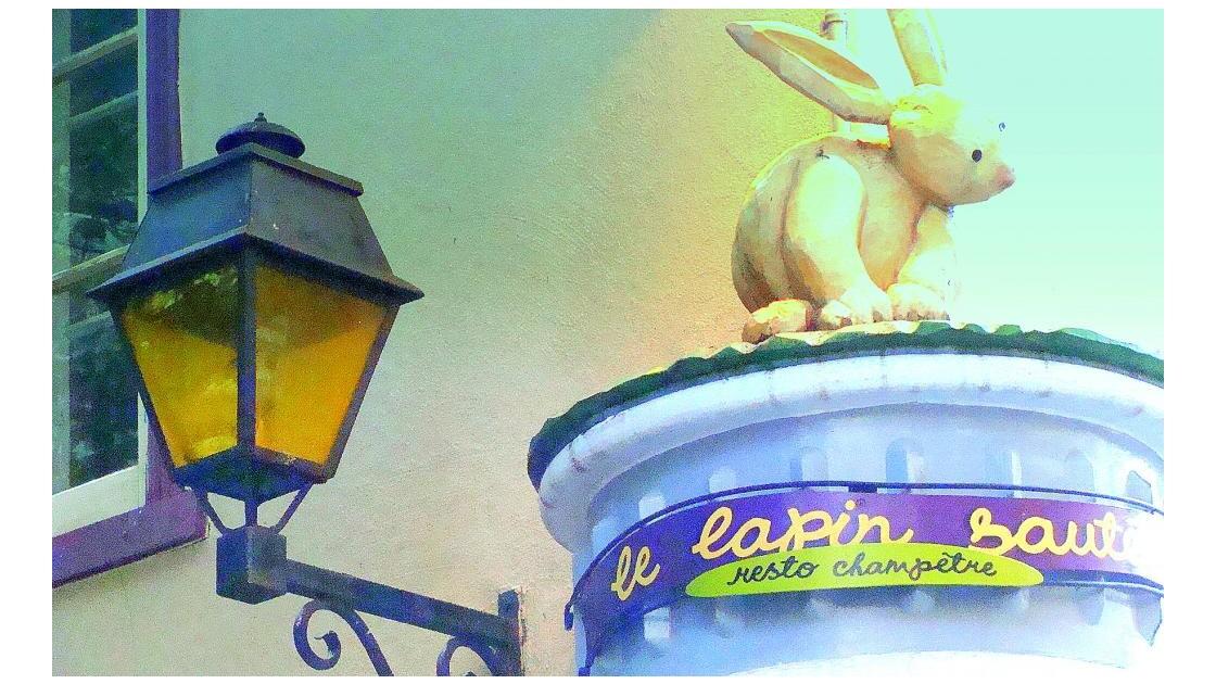 le lapin éclairé
