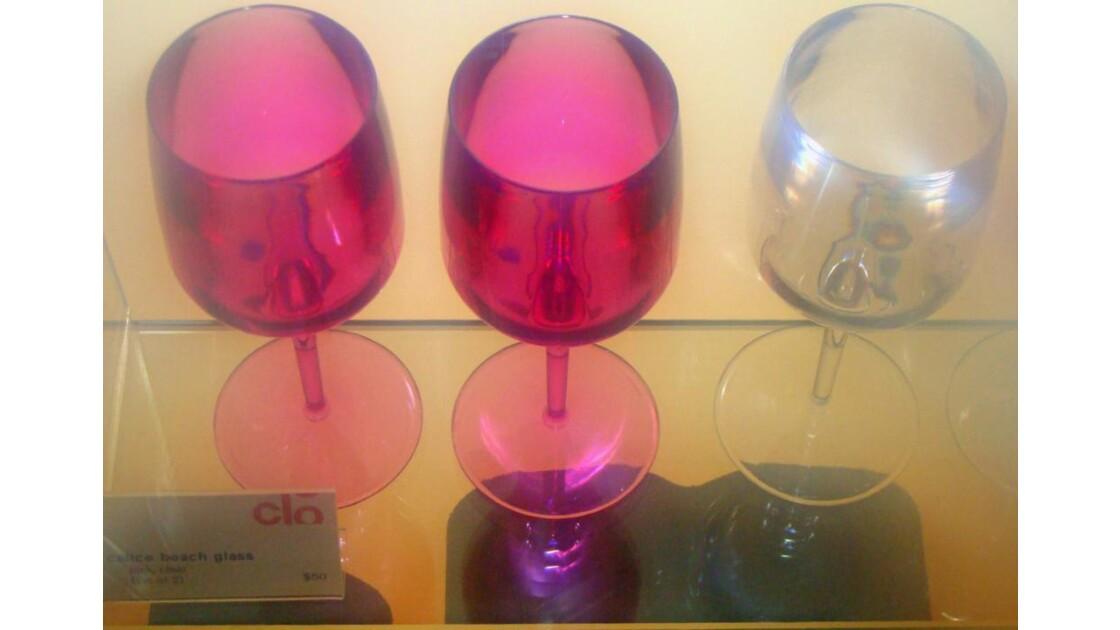 verres roses.