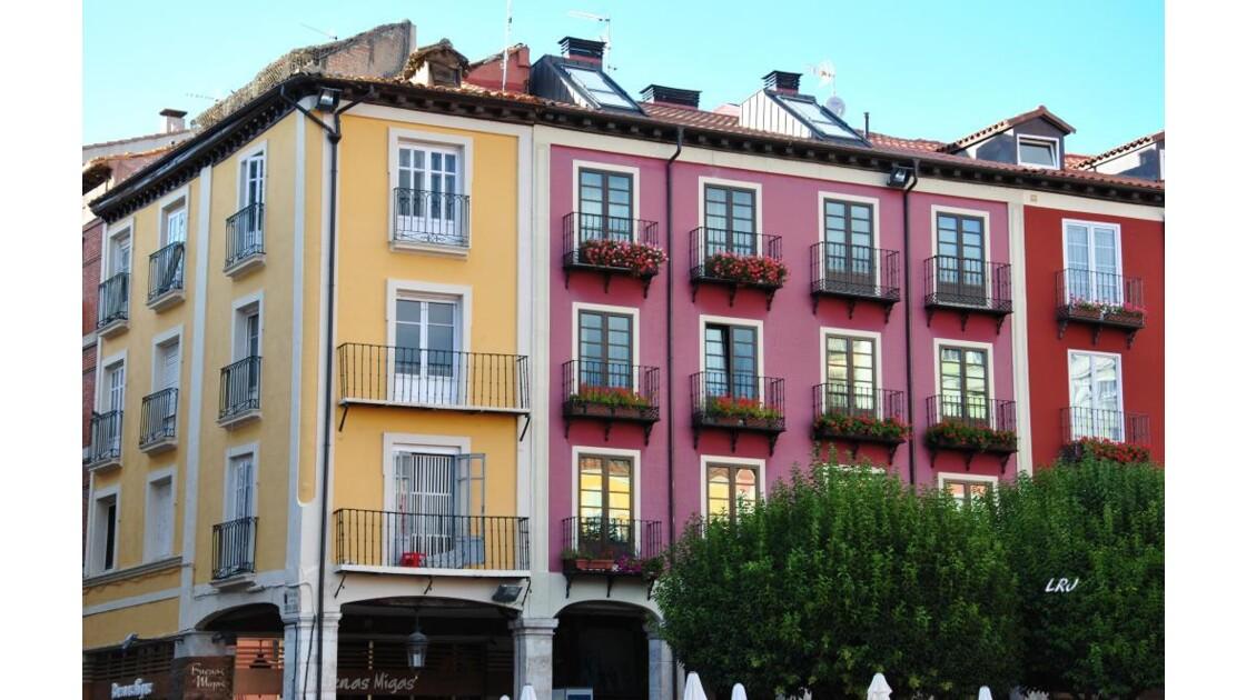 Burgos: la plaza mayor.