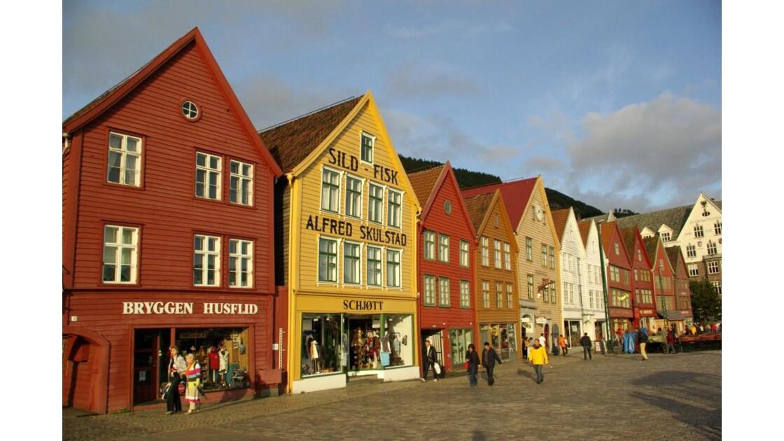 Sur le port de Bergen