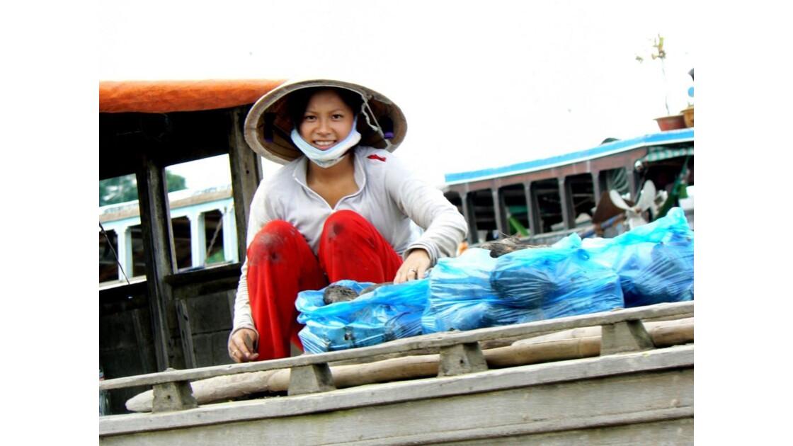 Marché flottant de CaiBe-Delta du Mékon