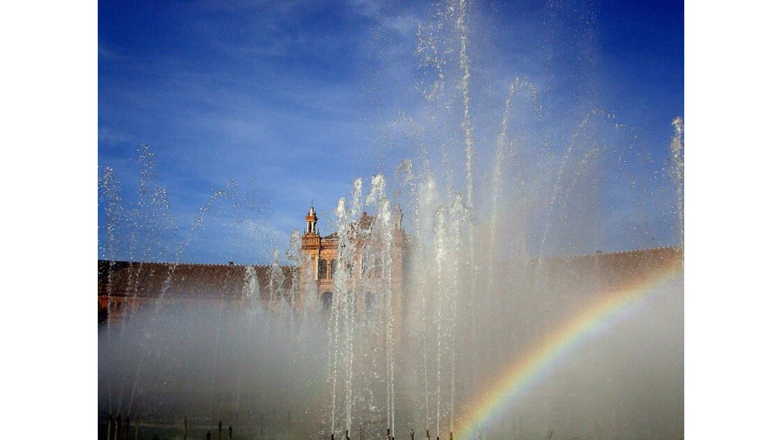 Place d'Espagne : jet d'eau