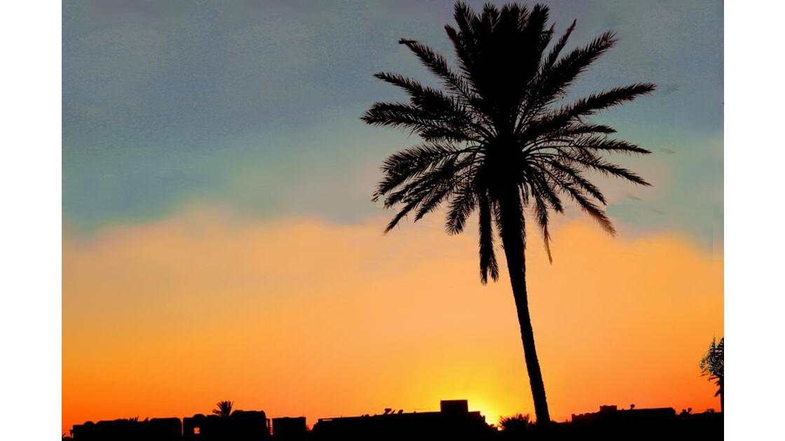 un premier coucher de soleil....