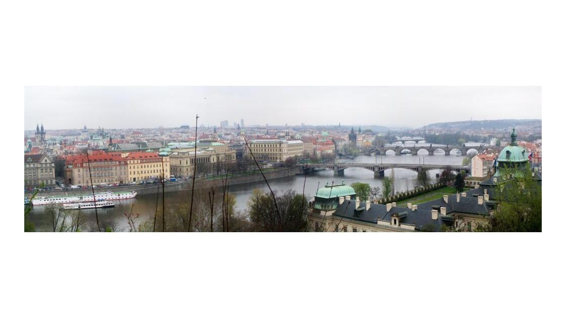 Panorama depuis le parc de Letna
