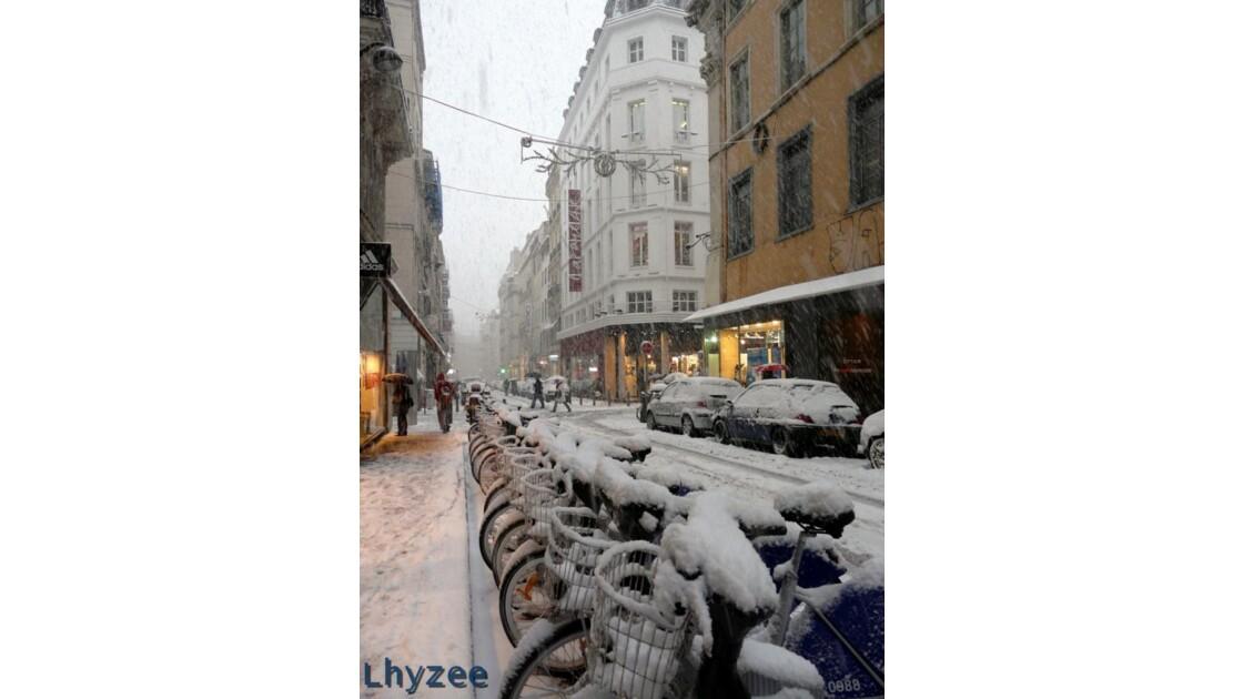 Des velos neiges ? rue de Rome