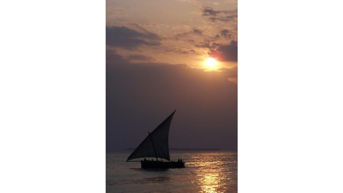 dhov au coucher de soleil