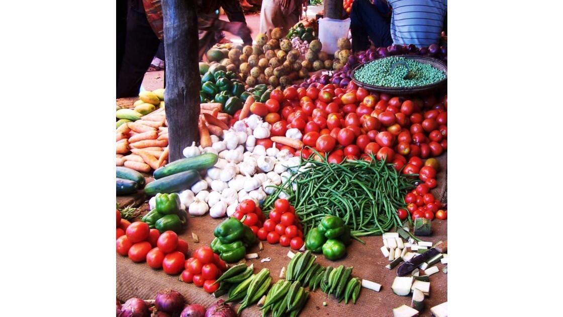 couleurs du marché, senteurs des épices