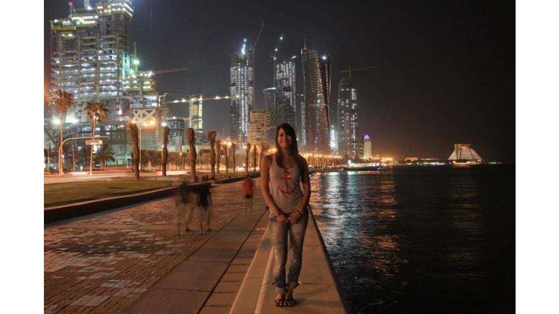Corniche de West Bay à Doha au Qatar