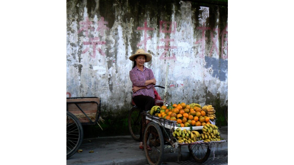 Vendeuse d'oranges - Guilin - Chine