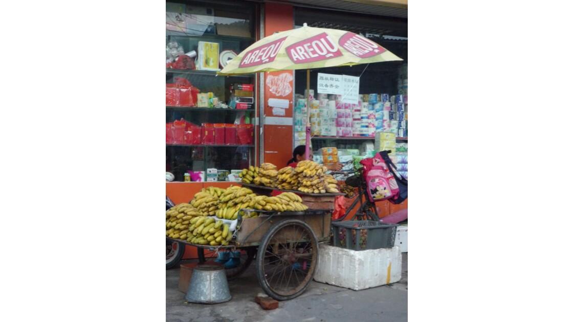 Vendeuse de bananes - Guilin - Chine