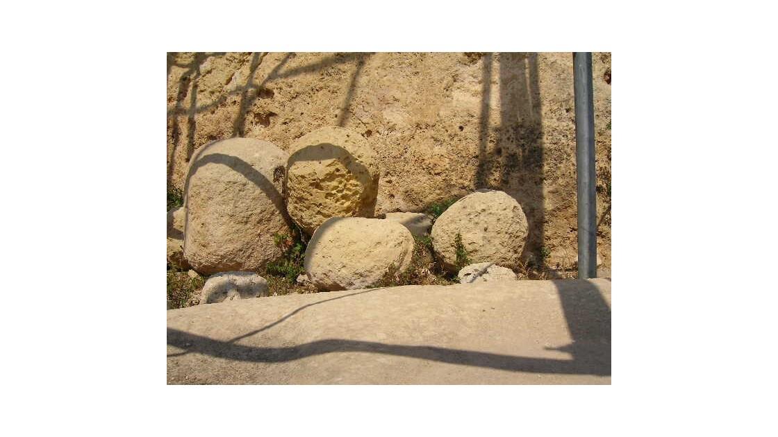 Boulets de pierre