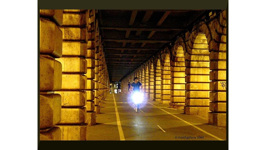 A vélo sur le pont de Bercy...