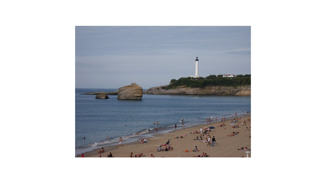 Grande Plage et Phare de Biarritz