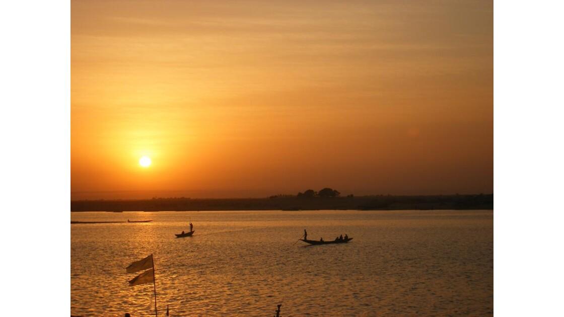 Coucher de soleil à Mopti