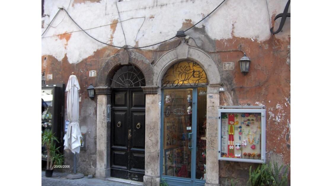 Devanture de magasin à Rome