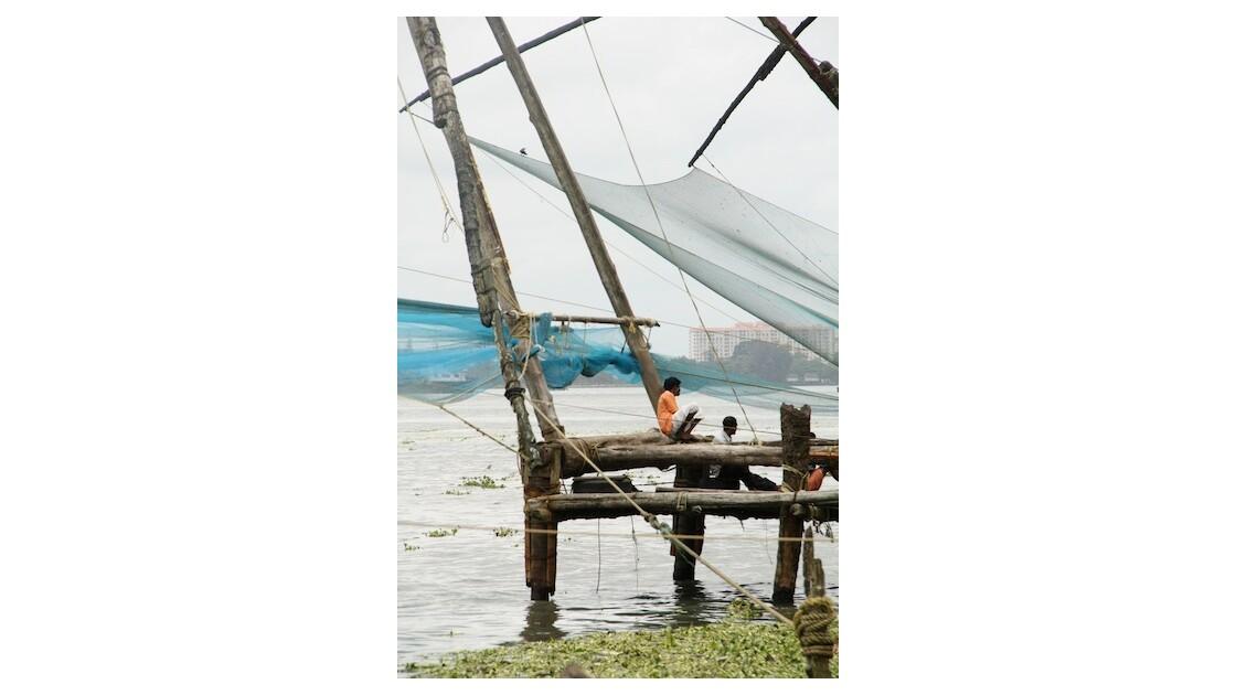 Pêcheurs à Kochi