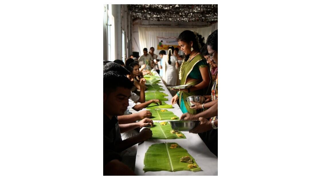Repas pour Onam à Kochi