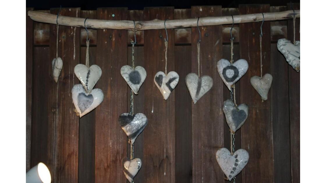 Coeur céramique pour le sapin