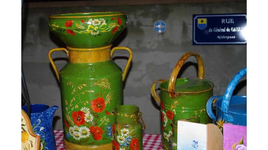 Pot de lait Peint al'Alsacienne