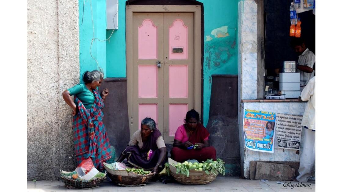 Vendeuse de fleurs - Madurai