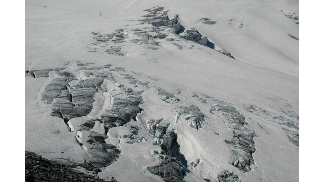 Sur le glacier.