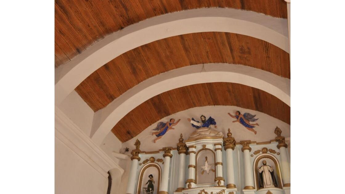 détail du palfond et de l'autel