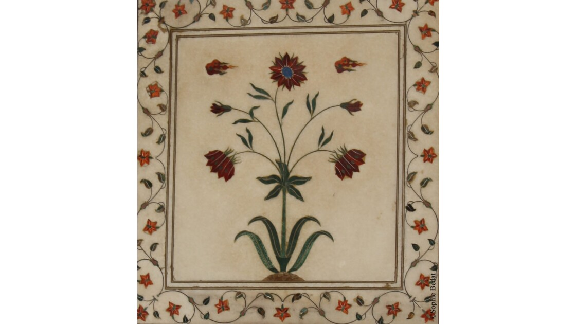 Red fort, motif perse oeillet