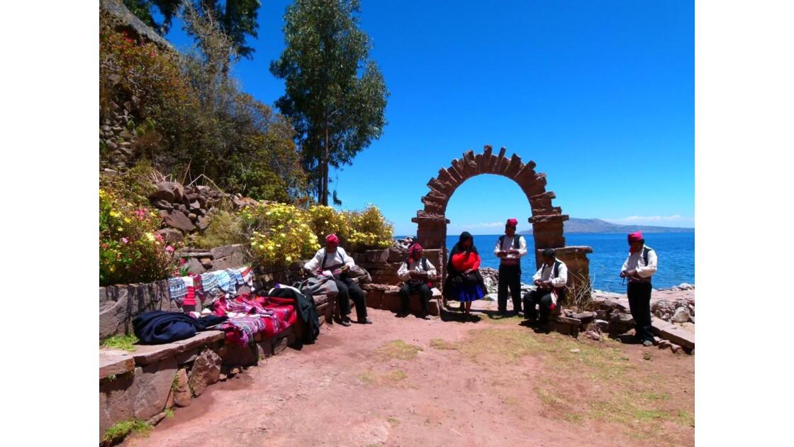 Sur lîle Taquile