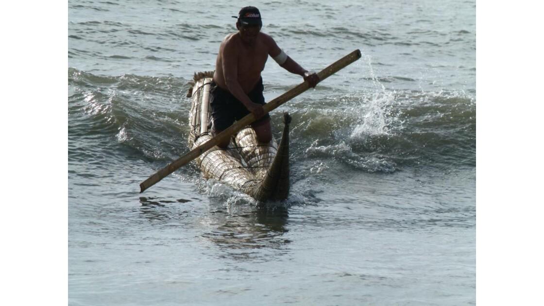 Démonstration de surf sur cab. de Totora